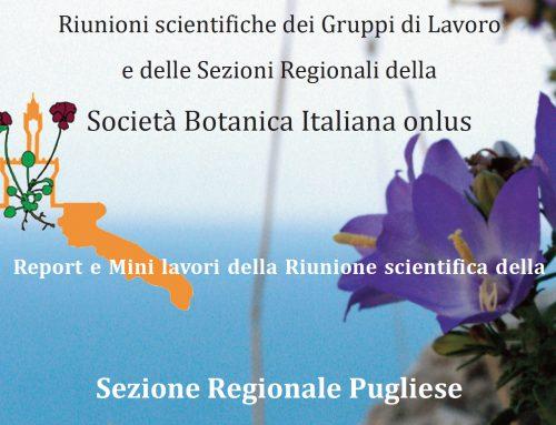 Riunione scientifica della Sezione Regionale Pugliese (Lecce, 29 gennaio 2016): Report e Mini lavori