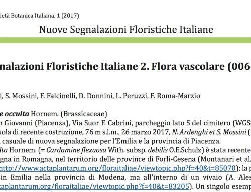 Flora Vascolare (006 – 009)