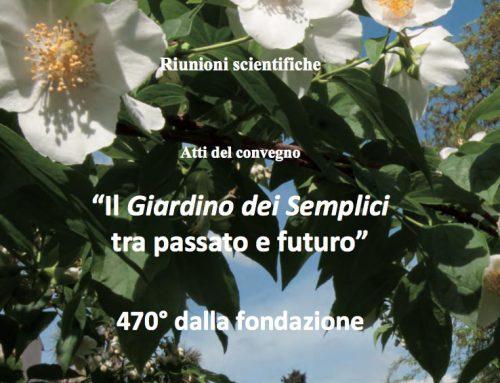 Atti del 470° Convegno dell'Orto Botanico di Firenze