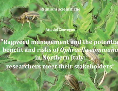 "Atti del Convegno ""Ragweed management and the potential benefit and risks of Ophraella communa in Northern Italy: researchers meet their stakeholders"" (Rho, 28 ottobre 2016)"